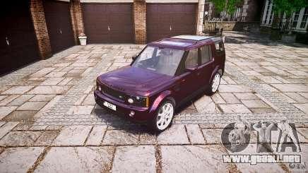 Land Rover Discovery 4 2011 para GTA 4