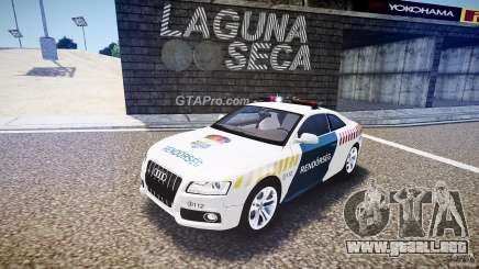 Audi S5 Hungarian Police Car white body para GTA 4