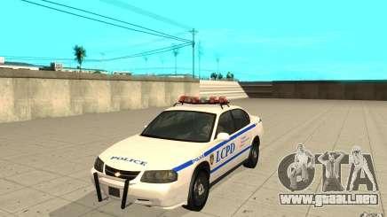 Patrulla de la policía de GTA 4 para GTA San Andreas