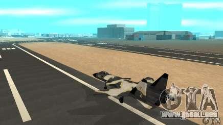 """Su-47 """"berkut"""" Cammo para GTA San Andreas"""
