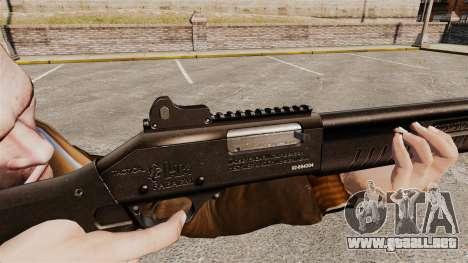 Táctica escopeta Fabarm SDASS fuerzas Pro v1 para GTA 4 adelante de pantalla