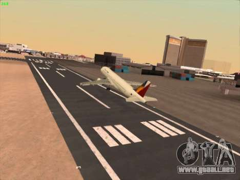 Airbus A320-211 Philippines Airlines para vista lateral GTA San Andreas