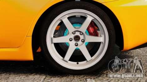 Mitsubishi Lancer Evolution X para GTA 4 vista hacia atrás