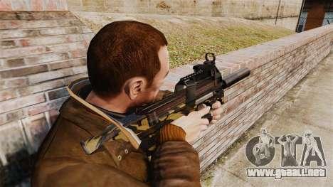 Belga FN P90 subfusil ametrallador v6 para GTA 4 segundos de pantalla