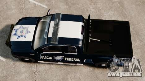 Ford F-150 De La Policia Federal [ELS & EPM] v3 para GTA 4 visión correcta