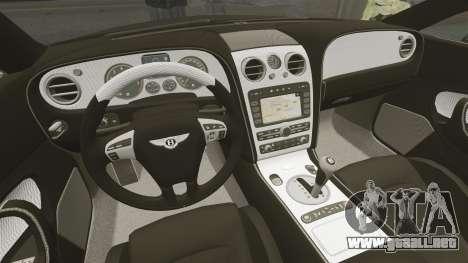 Bentley Continental GT Imperator Hamann EPM para GTA 4 vista hacia atrás