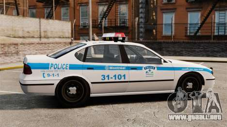 Montreal policía v2 para GTA 4 left