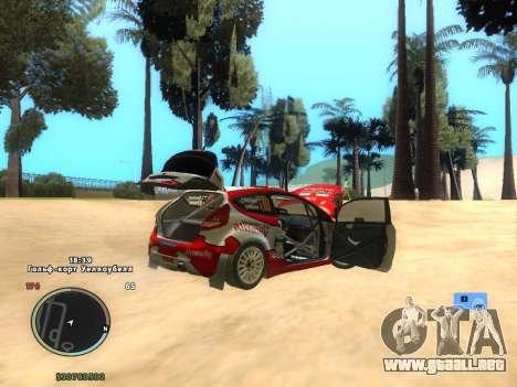 Ford Fiesta RS WRC para la visión correcta GTA San Andreas