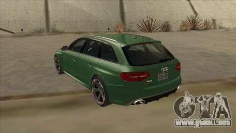 Audi RS4 Avant B8 2013 V2.0 para la visión correcta GTA San Andreas