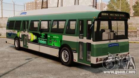 El anuncio nuevo en el autobús para GTA 4 Vista posterior izquierda