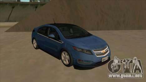 Chevrolet Volt 2011 [ImVehFt] v1.0 para GTA San Andreas left