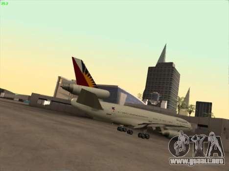 McDonell Douglas DC-10 Philippines Airlines para la visión correcta GTA San Andreas