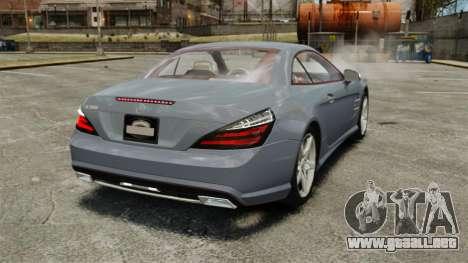 Mercedes-Benz SL500 2013 para GTA 4 Vista posterior izquierda