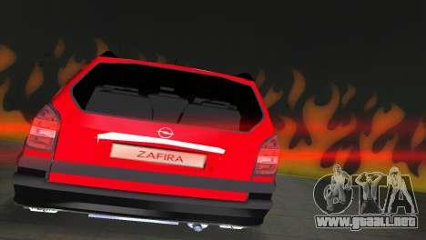 Opel Zafira para GTA Vice City vista posterior