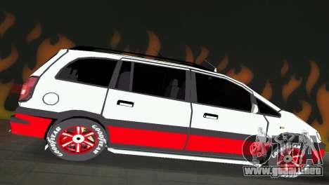 Opel Zafira para GTA Vice City visión correcta