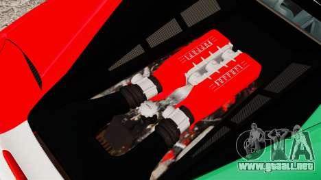 Ferrari 458 Italia 2010 Italian para GTA 4 vista interior