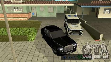 Rolls-Royce Phantom para visión interna GTA San Andreas