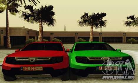 Dacia Duster Limo para GTA San Andreas vista hacia atrás