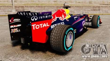 Coche, Red Bull RB9 v1 para GTA 4 Vista posterior izquierda