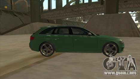 Audi RS4 Avant B8 2013 V2.0 para GTA San Andreas left