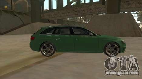 Audi RS4 Avant B8 2013 V2.0 para GTA San Andreas left