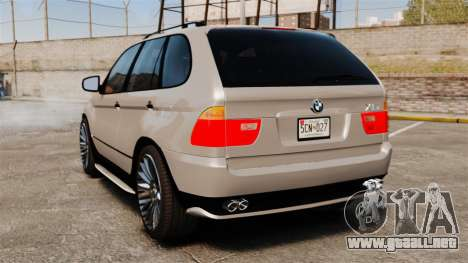 BMW X5 4.8iS v2 para GTA 4 Vista posterior izquierda