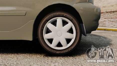 Daewoo Lanos FL 2001 para GTA 4 vista hacia atrás