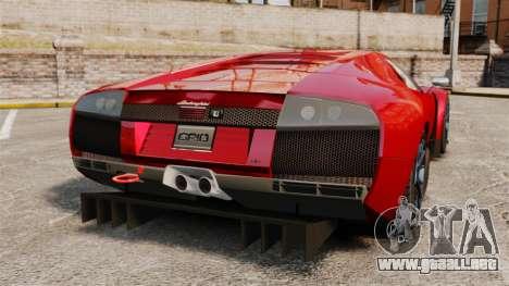 Lamborghini Murcielago RGT para GTA 4 Vista posterior izquierda