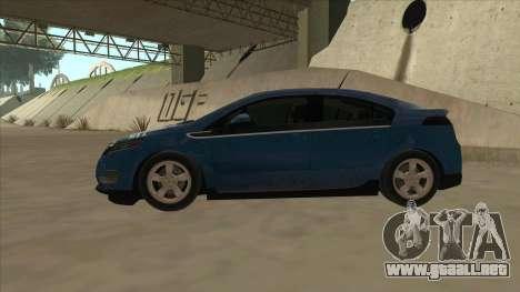 Chevrolet Volt 2011 [ImVehFt] v1.0 para GTA San Andreas vista posterior izquierda