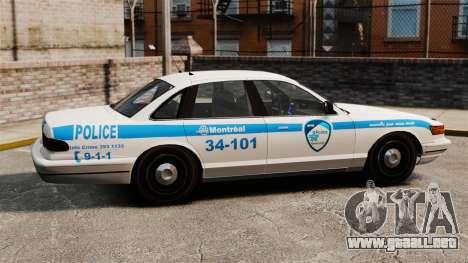 Montreal policía v1 para GTA 4 left