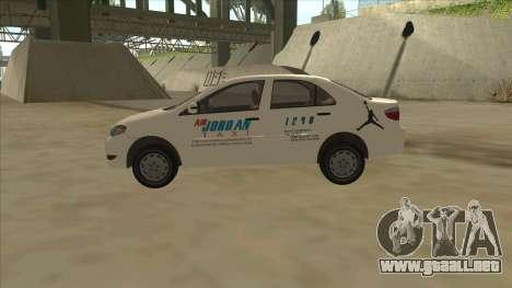Toyota Vios AIR JORDAN TAXI of Cagayan De Oro para GTA San Andreas