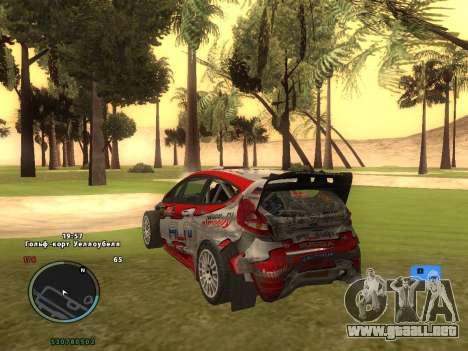 Ford Fiesta RS WRC para la vista superior GTA San Andreas