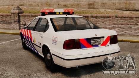 Policía holandesa para GTA 4 Vista posterior izquierda