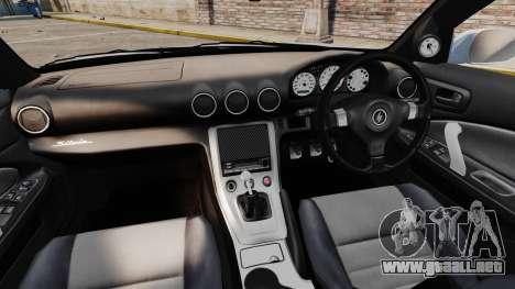 Nissan Silvia S15 v3 para GTA 4 vista hacia atrás