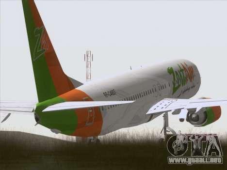 Boeing 737-800 Zest Air para la visión correcta GTA San Andreas