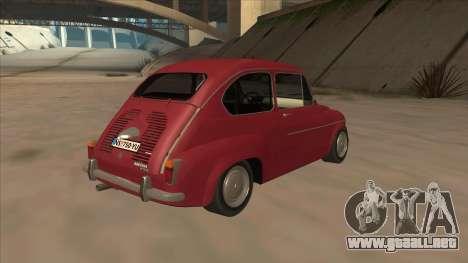 Zastava 750 Fico para GTA San Andreas vista hacia atrás