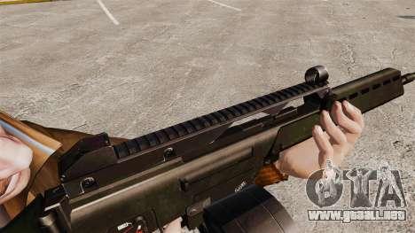 Rifle de asalto MG36 H & K v2 para GTA 4 adelante de pantalla