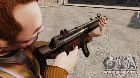 MP5SD subfusil ametrallador v5 para GTA 4 segundos de pantalla