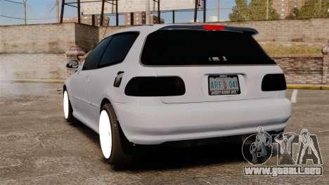 Honda Civic Gtaciyiz para GTA 4 Vista posterior izquierda