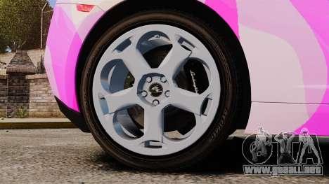 Lamborghini Gallardo 2005 [EPM] Pink Camo para GTA 4 vista hacia atrás