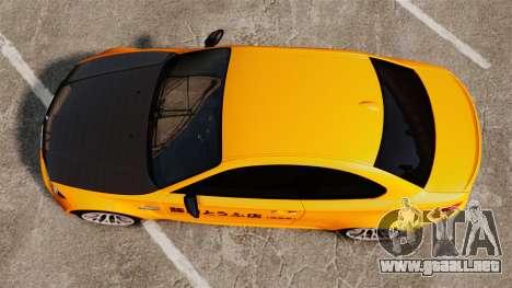 BMW 1M Coupe 2011 Fujiwara Tofu Shop Sticker para GTA 4 vista hacia atrás