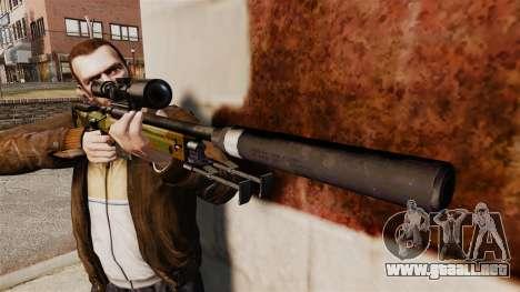 AW L115A1 rifle de francotirador con un v8 de si para GTA 4 tercera pantalla