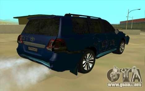 Toyota Land Cruiser 200 para GTA San Andreas interior