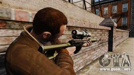 V3 de rifle de francotirador Dragunov para GTA 4 segundos de pantalla