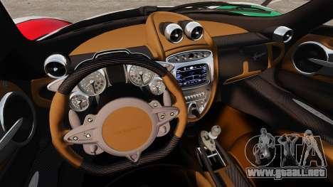 Pagani Huayra 2011 [EPM] Italian para GTA 4 Vista posterior izquierda
