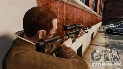 AW L115A1 rifle de francotirador con un v10 de s para GTA 4 segundos de pantalla