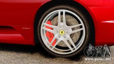 Ferrari F430 2005 para GTA 4 visión correcta