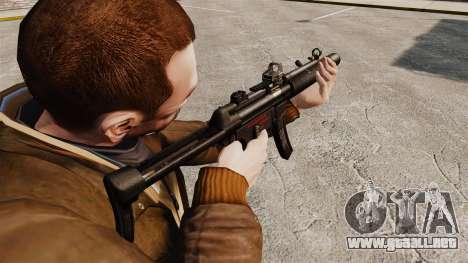 MP5SD subfusil ametrallador v2 para GTA 4 segundos de pantalla