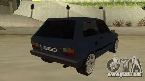 Zastava Yugo 1.1 para la visión correcta GTA San Andreas