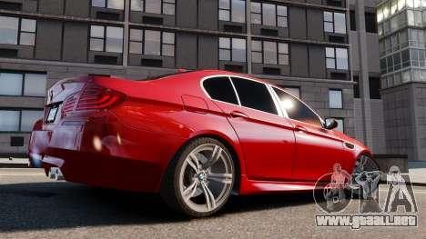 BMW M5 2012 para GTA 4 left